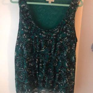 Pretty NY&Co sleeveless blouse, XL